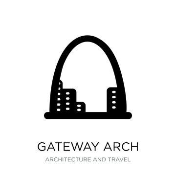 gateway arch icon vector on white background, gateway arch trend