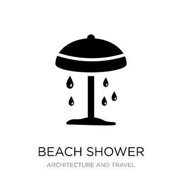 beach shower icon vector on white background, beach shower trend