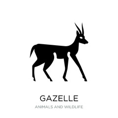 gazelle icon vector on white background, gazelle trendy filled i