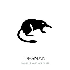 desman icon vector on white background, desman trendy filled ico