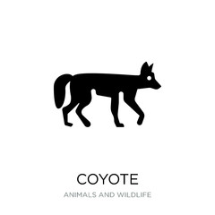 coyote icon vector on white background, coyote trendy filled ico