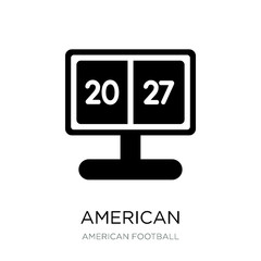 american football scores icon vector on white background, americ