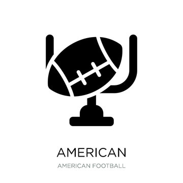 american football goal icon vector on white background, american