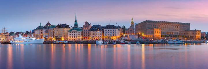 Printed roller blinds Stockholm Gamla Stan in Stockholm, Sweden