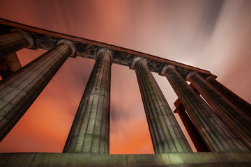 The National Monument on Carlton Hill in Edinburgh, Scotland