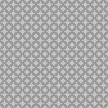 Geometric Circles Seamless Pattern - Tinted gray and white geometric circles