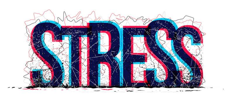 Stress word vector, creative illustration concept.