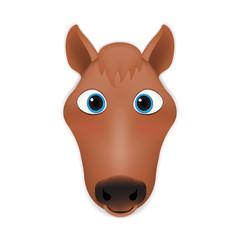 Horse head cartoon vector