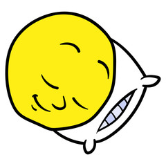 Cartoon Sleeping Smiley Illustration