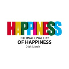 Happy International Day of Happiness Vector Template Design Illustration