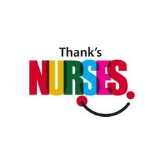 Thank's Nurses Vector Template Design Illustration