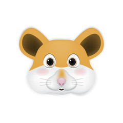 Rat head cartoon vector