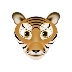 Tiger head cartoon vector