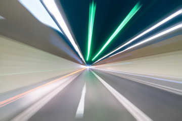 Fotomurales - tunnel motion blur