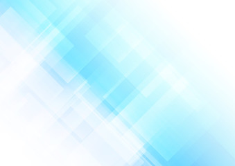 Abstract square shapes blue background