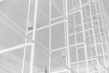 white frame structure abstract pattern for background.