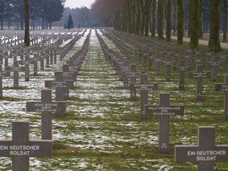 German military cemetery in Ysselstein where soldiers were buried after the battle of Overloon