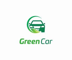 green Car logo design vector, Automotive logo design template