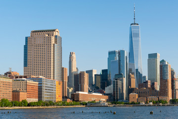 Manhattan skyline in New York City