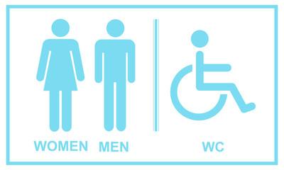 Obraz Symbol icona wektorowa toalet - fototapety do salonu