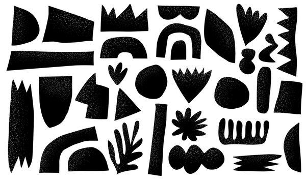 Scandinavian vector Collection cut out shape with texture