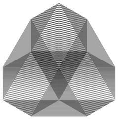 3d stone shaped nonagon