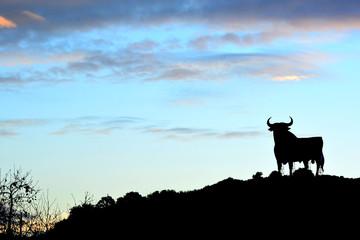 Silueta del toro simbolo de España y Andalucía