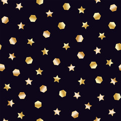 Golden stars and hexagons
