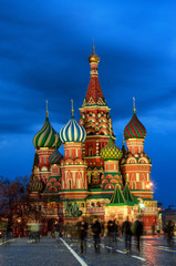Saint Basil's Cathedral in Red Square in Moscow, Russia.