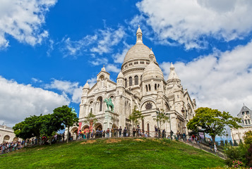 Sacre Coeur on the Montmartre Hill