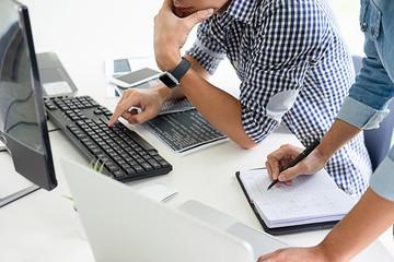 Programmer working in a software development and coding technologies. Website design.Technology concept.