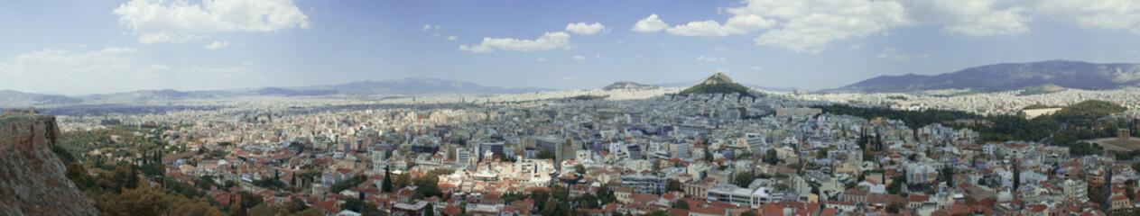 Vue panoramique de la ville d'Athènes