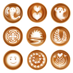 Latte Art Realistic Set