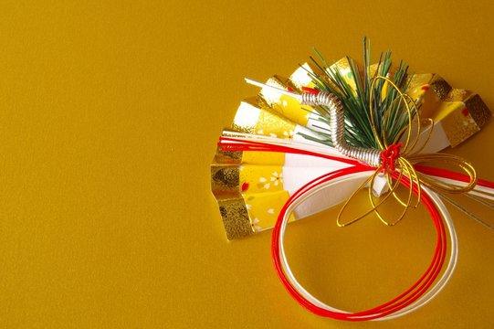 お正月 正月飾り 水引 扇