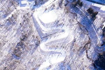 ドローン 雪景色