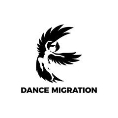 Dancing Woman Logo Fashion Beauty grace design. Female Salon Jewelry Business Logotype concept icon Negative space style. Vector illustarion