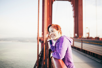 Woman in the Golden Gate Bridge