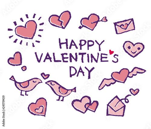 可愛いバレンタインのスタンプイラストfotoliacom の ストック画像と