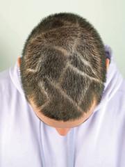 Netz-Frisur