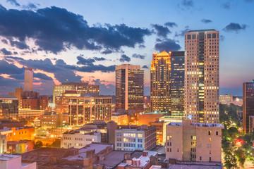 Fototapete - Birmingham, Alabama, USA downtown city skyline