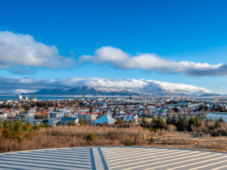 Cityscape viewpoint of Reykjavik from Perlan, Iceland