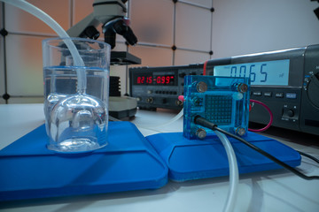 Hydrogen fuel cell in the laboratory