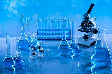 Development, Scientific glassware for chemical experiment