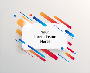 Modern text box with colorful stripes