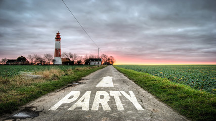 Schild 392 - Party