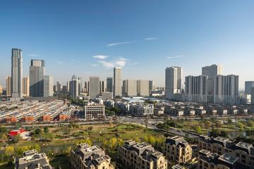 panoramic city skyline in china