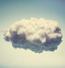 Fototapeta White cotton cloud on blue background. obraz