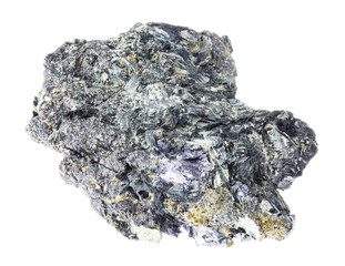 Glaucophane with Molybdenite, Pyrite and Magnetite
