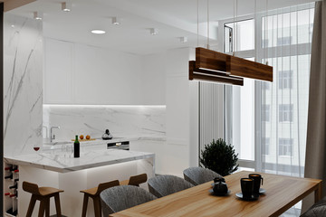 Loft modern interior . Modern apartment house style