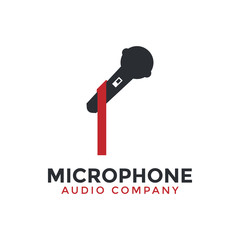 Microphone icon graphic design template